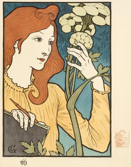Salon des Cent,  Eugène Samuel Grasset, France, 1894 Kurt J. Wagner, M.D., and C. Kathleen Wagner Collection