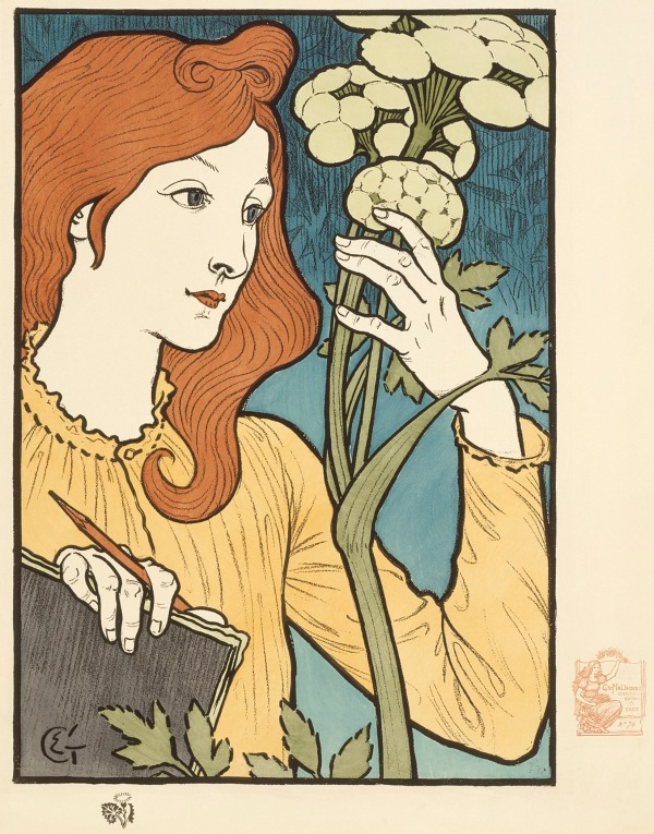 Salon des Cent,  Eugène Samuel Grasset, France, 1894 Kurt J. Wagner, M.D., and C. Kathleen Wagner Collection