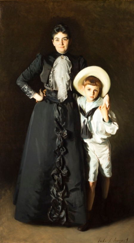 Portrait of Mrs. Edward L. Davis and Her Son, Livingston Davis, John Singer Sargent, United States, 1890, Frances and Armand Hammer Purchase Fund