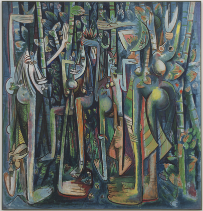 Wifredo Lam, The Jungle, 1943, gouache on paper mounted on canvas, Museum of Modern Art, New York