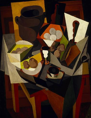 Diego Rivera, Mexico, 1886–1957, Still Life with Bread and Fruit, 1917, oil on canvas, Gift of Morton D. May