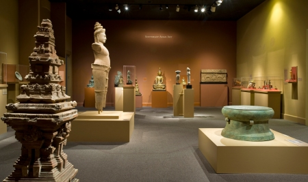 View of the Southeast Asian gallery before the installation