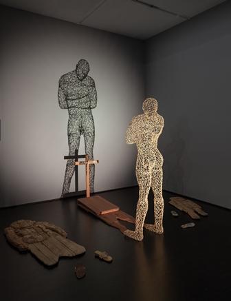 Aimè Mpane, Congo, Shadow of the Shadow, 2005, Mixed-media installation, 132 x 209 x 144 in., photo (c) 2013 Museum Associates/LACMA