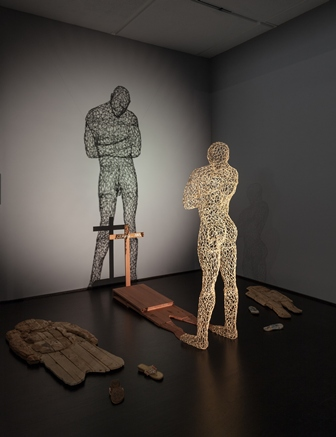 Aimè Mpane, Congo, Shadow of the Shadow, 2005, Mixed-media installation, 132 x 209 x 144 in., photo (c) 2013 Museum Associates/LACMA