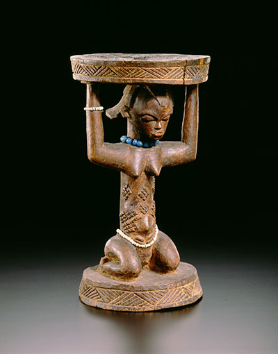 Caryatid stool, Africa (Democratic Republic of the Congo, Luba Peoples), The Royal Museum for Central Africa, collection RMCA Tervuren, photo R. Asselberghs, RMCA Tervuren ©