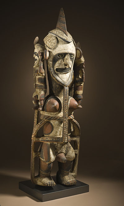 Memorial Figure (uli, selambungin lorong type),  Papua New Guinea, New Ireland Province, circa 1900, Purchased with funds provided by the Eli and Edythe Broad Foundation with additional funding by Jane and Terry Semel, the David Bohnett Foundation, Camilla Chandler Frost, Gayle and Edward P. Roski and The Ahmanson Foundation