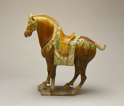 Funerary Sculpture of a Horse, about 700–800, China (Middle Tang dynasty), gift of Nasli M. Heeramaneck (M.73.48.79)