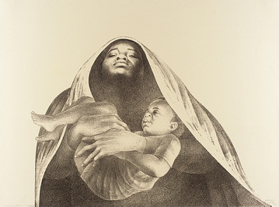 Charles White, I Have a Dream, 1976, Graphic Arts Council Fund, © Charles White