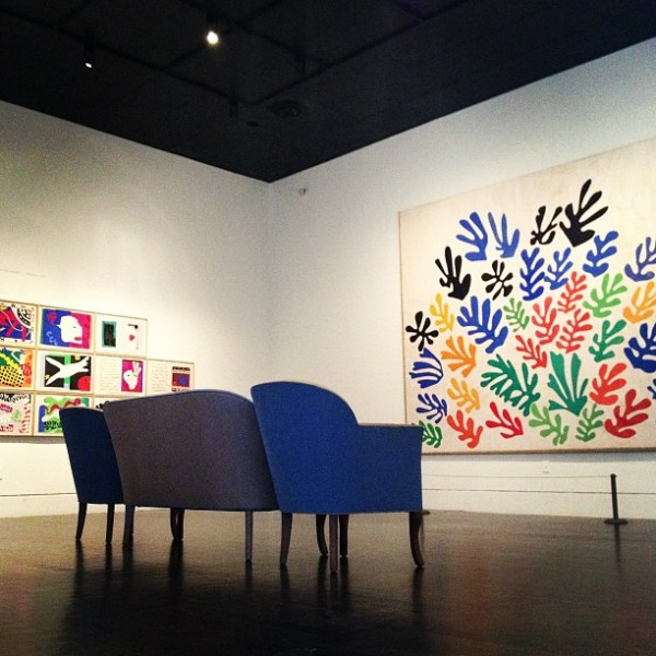 Installation view, Henri Matisse: La Gerbe, Instagram Photo © 2013 Museum Associates/LACMA