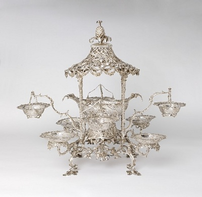 Thomas Pitts, Epergne, 1763–64, Long-term loan from The Rosalinde and Arthur Gilbert Collection on loan to the Victoria and Albert Museum, London (L.2010.9.24a–y)
