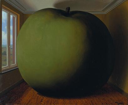 René Magritte, The Listening room (la chambre d'écoute), 1952, The Menil Collection, Houston. Gift of Philippa Friedrich, © 2013 C. Herscovici, London / Artists Rights Society (ARS), New York