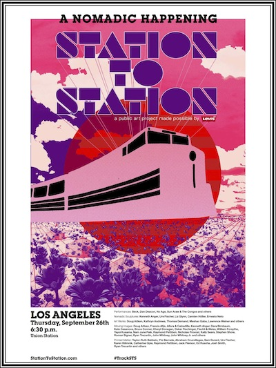 Station to Station poster for Los Angeles, courtesy of Station to Station