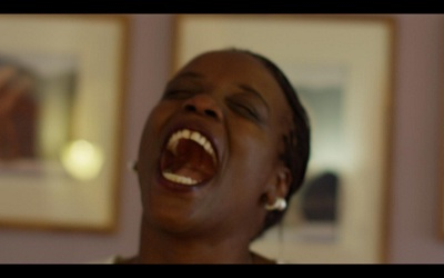 Still from Nicole Miller's video series Believing is Seeing featuring Redlands resident Ndinda Spada