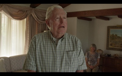 Still from Nicole Miller's video series Believing is Seeing featuring Redlands residents Harold Hartwick and Diana Kriger