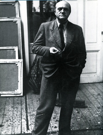 Max Beckmann in his studio.