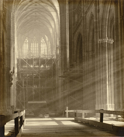 Josef Sudek, Scaffolding in Grand Apse of St. Guy, 1928, The Marjorie and Leonard Vernon Collection, gift of the Annenberg Foundation, acquired from Carol Vernon and Robert Turbin