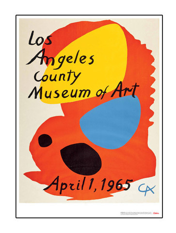 This poster, <em>Los Angeles County Museum of Art, April 1, 1965</em>, was created by Alexander Calder on the occasion of the 1965 opening of the museum.