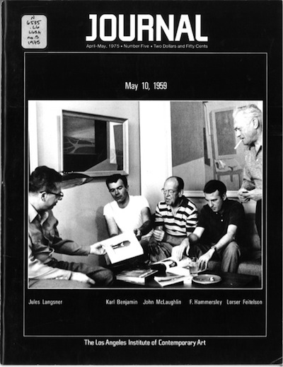 Cover of the April­–May 1975 issue of LAICA Journal