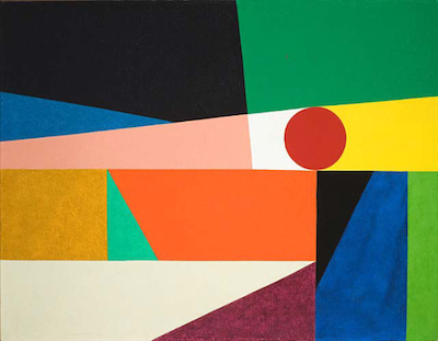 Frederick Hammersley, Around a round, 1959, Los Angeles County Museum of Art, bequest of Fannie and Alan Leslie, © Frederick Hammersley Foundation