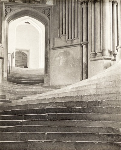 "Frederick H. Evans, ""A Sea Of Steps,"" Wells Cathedral, 1903, © Frederick H. Evans, courtesy Janet B. Stenner"