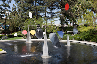 Alexander Calder, Three Quintains (Hello Girls) (pictured in its current location), 1964, Los Angeles County Museum of Art, Art Museum Council Fund