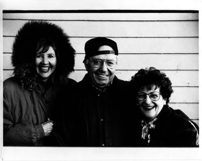 Left to right: Maggi Weston, Leonard Vernon, Marjorie Vernon, photo by Rod Dresser © Estate of Rod Dresser
