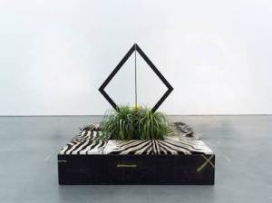 Rashid Johnson Four for the Talking Cure,  2009/2012 Mixed media sculpture Installation 97 x 84.5 x 84.5 in. Purchased with funds provided Contemporary Friends, Holly and Albert Baril, Allison and Larry Berg, Viveca Paulin-Ferrell and Will Ferrell, Linda and Paul Gotskind, Jennifer Hawks and Ramin Djawadi, Laura and James Maslon, Phil Mercado and Todd Quinn, Candace and Charles Nelson, and the Kerry and Simone Vickar Foundation, 2013