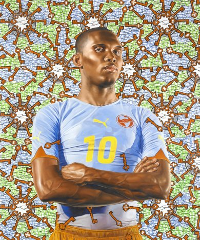 Kehinde Wiley, Samuel Eto'o, 2010, Roberts & Tilton Gallery, © Kehinde Wiley, Image courtesy of Kehinde Wiley, and Roberts & Tilton, Culver City, California.