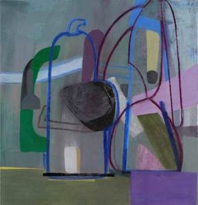 Amy Sillman Untitled (Purple Bottle),  2013 Oil on canvas 52 x 49 in.  Purchased with funds provided by Contemporary Friends, 2013