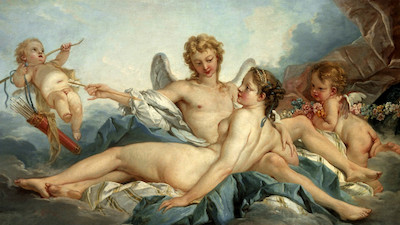 "François Boucher, ""Cupid Wounding Psyche,"" 1741, gift of Hearst Magazines,"
