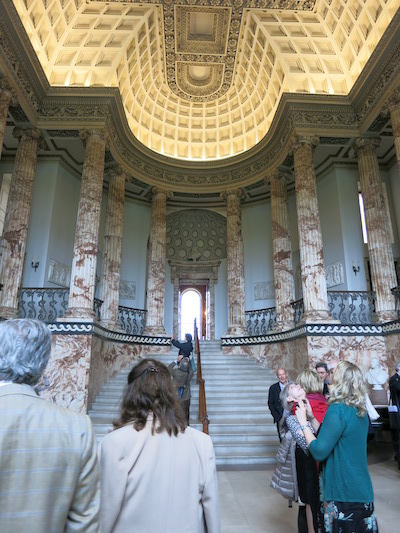 The Marble Hall at Holkham Hall