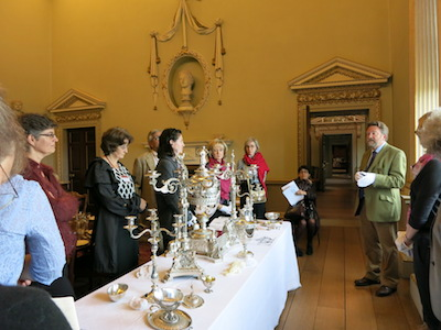 A seminar on silver at the North Dining Room at Holkham Hall