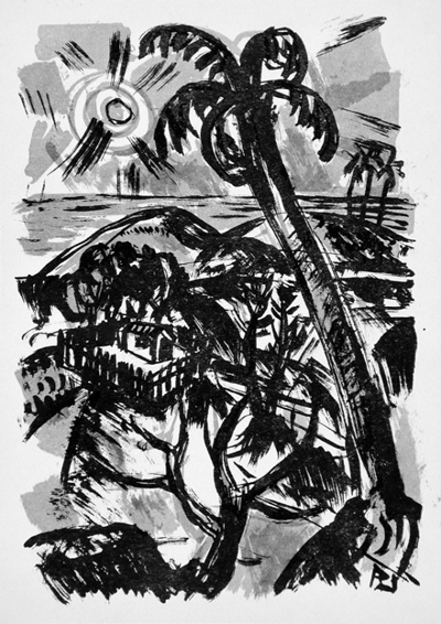 Richard Janthur, Robinson's island, 1922, The Robert Gore Rifkind Center for German Expressionist Studies, purchased with funds provided by Anna Bing Arnold, Museum Associates Acquisition Fund, and deaccession funds