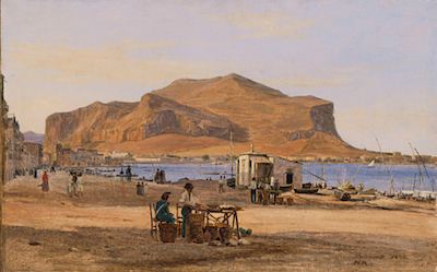 Martinus Rørbye, Palermo Harbor with a View of Monte Pellegrino, 1840, gift of the 1990 Collectors Committee