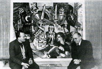 Peter Beckmann and Hildebrand Gurlitt at the 1950 exhibition