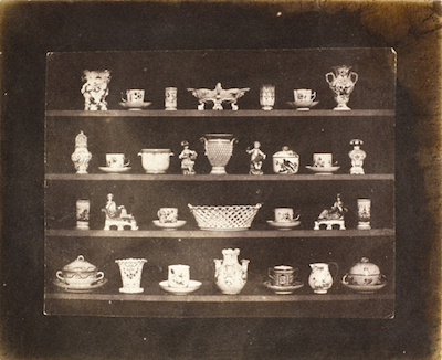 William Henry Fox Talbot, Articles of Porcelain, c. 1844, the Marjorie and Leonard Vernon Collection, gift of the Annenberg Foundation, acquired from Carol Vernon and Robert Turbin