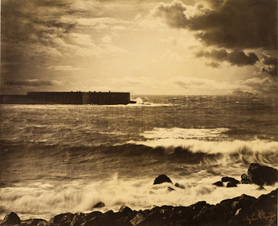 Gustave Le Gray, The Great Wave, Sète, 1857, The Marjorie and Leonard Vernon Collection, gift of The Annenberg Foundation and Carol Vernon and Robert Turbin