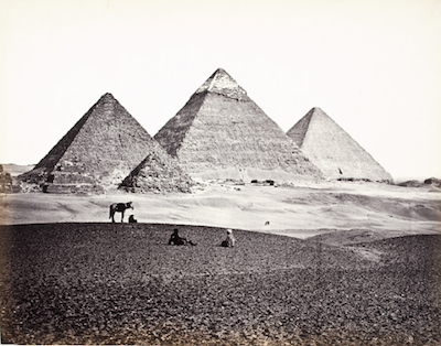 Francis Frith, Pyramids Of El-Geezeh (from the Southwest), c. 1857, the Marjorie and Leonard Vernon Collection, gift of The Annenberg Foundation, acquired from Carol Vernon and Robert Turbin