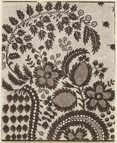 William Henry Fox Talbot, Lace, 1857, the Marjorie and Leonard Vernon Collection, gift of The Annenberg Foundation, acquired from Carol Vernon and Robert Turbin