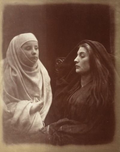 Julia Margaret Cameron, The Little Novice & Queen Guinevere In The Holy House Of Almsbury, 1874, the Marjorie and Leonard Vernon Collection, gift of The Annenberg Foundation, acquired from Carol Vernon and Robert Turbin