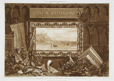 Joseph Mallord William Turner England, 1775-1851 Frontispiece to the series Liber Studiorum, 1812 Etching and mezzotint Gift of Mr. and Mrs. Martin Medak AC1992.113.1