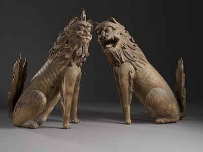 Pair of Guardian Lions, Japan, 9th century, photo © 2014 Museum Associates/LACMA