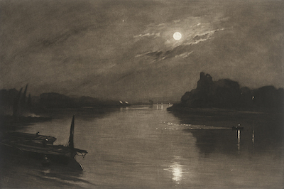 Frank Short England, 1857-1945 The Night Picket Boat at Hammersmith, c. 1916 Mezzotint Mr. and Mrs. Allan C. Balch Collection