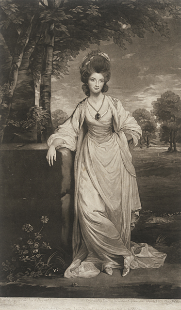 Valentine Green England, 1739-1813 After Joshua Reynolds England, 1723-1792 Lady Elizabeth Compton, 1781 Mezzotint Mr. and Mrs. Allan C. Balch Collection M.50.5