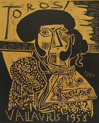 Toros Vallauris 1958, 1958. Linocut, 25 1/2 x 20 3/4 in. Gift of Lucille and George N. Epstein