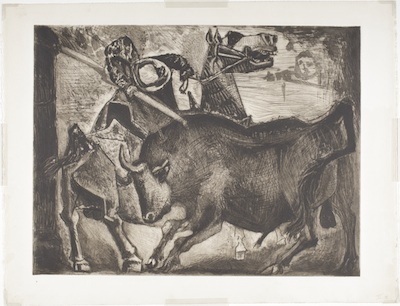 Pablo Picasso, Bull and Picador, 1952, © 2014 Estate of Pablo Picasso/Artists Rights Society (ARS), New York