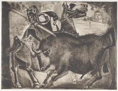 Pablo Picasso, Bull and Picador, 1952, gift of the 2014 Collectors Committee, © 2014 Estate of Pablo Picasso/Artists Rights Society (ARS), New York