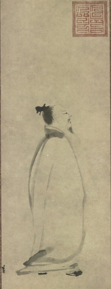 Liang Kai, China, The Poet Li Bai Chanting a Poem on a Stroll, Southern Song dynasty, 13th century, Hanging scroll; ink on paper, Tokyo National Museum, Important Cultural Property, image courtesy of TNM Image Archive