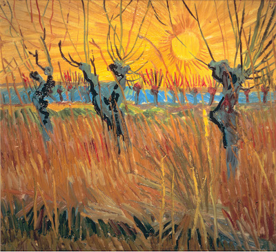 Vincent van Gogh, Pollard Willows at Sunset, 1888, Oil on canvas mounted on cardboard, Kröller‑Müller Museum, Otterlo, The Netherlands, Photo Credit: Art Resource, NY.