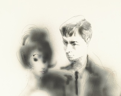 John Altoon, Untitled (Paris: Dior Evenings), c. 1962–63, private collection, courtesy Fred Hoffman Fine Art